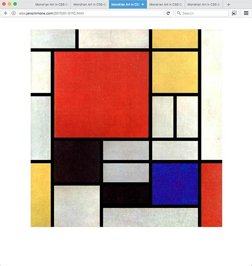 Mondrian Art in CSS Grid | Jen Simmons